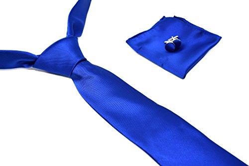 Premium Handkerchief Oxford Silk Blue and Box Tie Satin Collection Cufflinks 100 Set RA6Y7qw