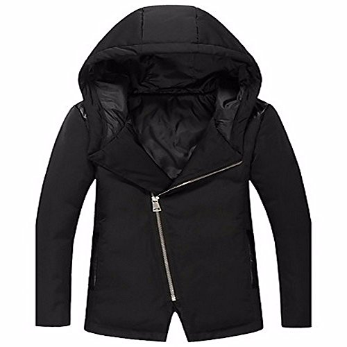 Black Boho Out Sleeves Short Men's Coat Casual Down Daily Solid ZHUDJ Cotton Down White Going Long Simple wqaCXfx0