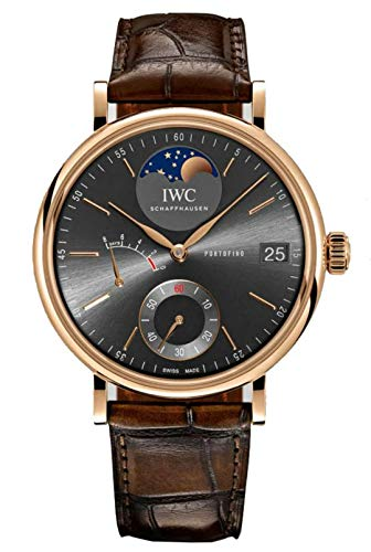 (IWC Rose Gold Portofino Moonphase Hand Wound Watch )