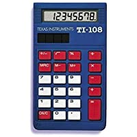 Texas Instruments TI-108 Solar Power Calculator/Teacher's Kit (set of 10)