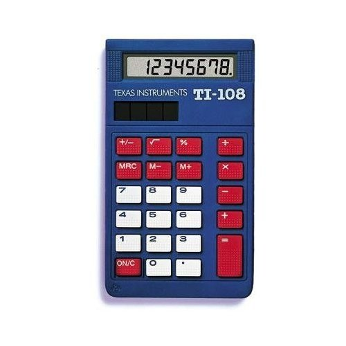 Texas Instruments TI-108 Solar Power Calculator/Teachers Kit (set of 10)