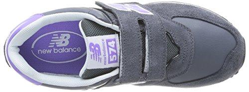 New Balance Kg574 - Zapatillas unisex para niños Gris / Violeta (Grey/Violett)