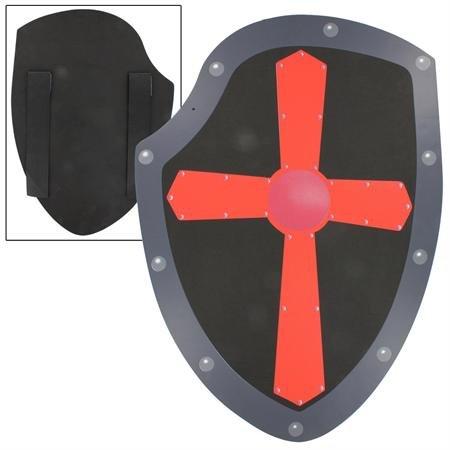 Fearless Soldier's Red Cross of Iron Foam LARP Warrior's Kite Training Shield (Medieval Foam Larp Shield)