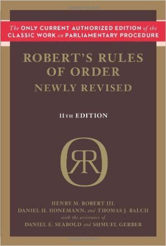 Robert's Rules of Order Newly Revised by Henry M. Robert III Daniel H. Honemann Thomas J. Balch11 Revised edition (Textbook ONLY, Paperback)