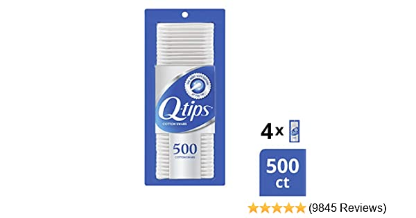 Q-Tips Swabs Cotton, 500 Count (Pack of 4)
