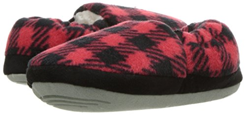 Stride Rite Boy's Hunter Buffalo Plaid A Line Slipper Shoe, Red, 9/10 M US Toddler - Image 6