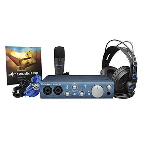 [해외]PreSonus AudioBox AxcessAbles 녹음 스튜디오가있는 iTwo 스튜디오 녹음 키트 마이크 절연 쉴드 및 스탠드/PreSonus AudioBox iTwo Studio Recording Kit with AxcessAbles Recording Studio Microphone Isolation Shield and Stand