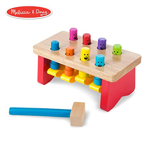 - Melissa & Doug Deluxe Pounding Bench Wooden Toy with Mallet