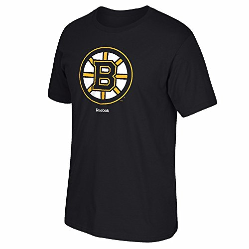 NHL Boston Bruins Men's Jersey Crest Tee, Small, Black