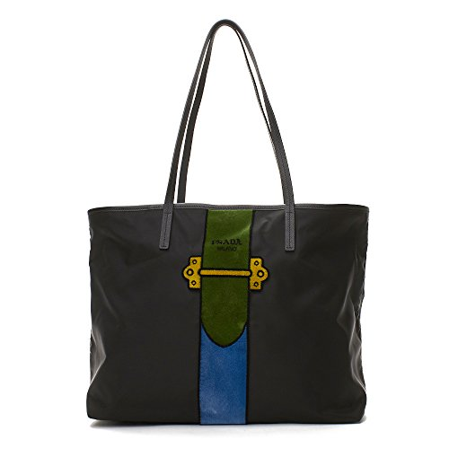 Prada Nylon Embroidered Fabric Tote - Prada Line Clothing