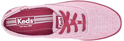 Keds Womens Womens Champion Stripe Fashion Sneaker Rosso