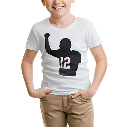 - Boys' Tom England MVP Posters Goat 12 tee Shirts Short Sleeve Round Neck Tees 100% Organic Cotton for Kids