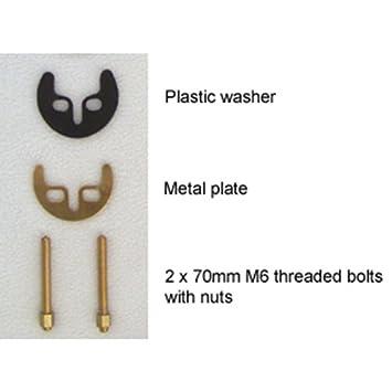 monobloc bathroom basin kitchen sink taps fitting fixing kit bracket 2 bolts fw002 - Kitchen Sink Tap Fittings