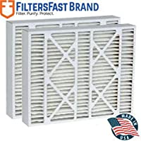 FiltersFast Compatible Replacement for York 9183940 MERV 11 Air Filter 2-Pack-16x22x5 (Actual Size: 15-3/8 x 21-7/8 x 5-1/4)