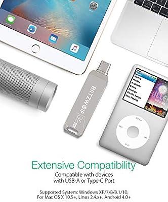 Memoria USB 32GB, BlitzWolf USB 3.0 +Tipo C Memoria Flash USB ...