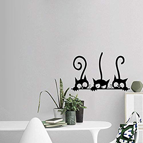 Boger Adhesive Cute Cartoon Cat Wall Stickers Bedroom Livingroom Wall Decals Home Wall DIY Decors by Boger (Image #3)