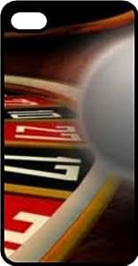 taoyix diy Casino Vegas Roulette Wheel Black Plastic Case for Apple iPhone 6 Plus