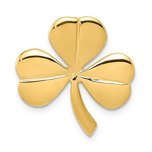 14k Yellow Gold Shamrock Necklace Chain Slide Pendant Charm Celtic Claddagh Holiday St Patrick Day Fine Jewelry Gifts For Women For Her