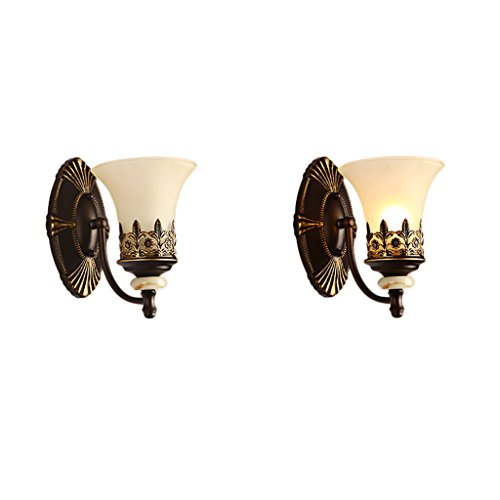 Retro Luxury Iron Wall Lamp Living Room Decoration Wall Lamp Bedroom Bedside Lamp Bathroom Mirror Front Light Stairway Aisle Lights by Crystal (Image #4)