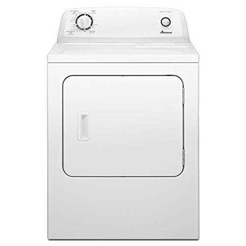 "Amana NGD4655EW Top-Load 29"" Gas Dryer in White"