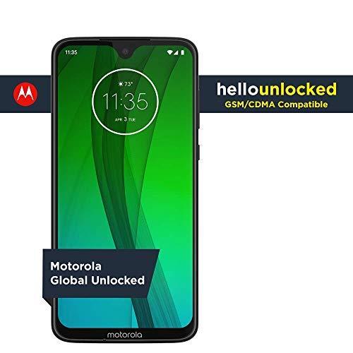 Moto G7 - Unlocked - 64 GB - Ceramic Black (US Warranty) - Verizon, AT&T, T-Mobile, Sprint, Boost, Cricket, & Metro (Phones Mobile Droid T)