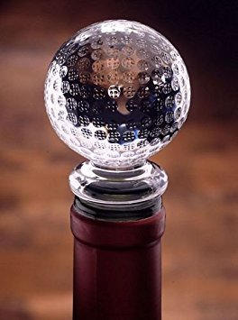 Acrylic Gem Clear Golf Ball Stopper by Prodyne