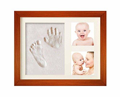 Hantajanss Baby Hand Print Frame Keepsake Preserves Priceless Memories Best Gift for Baby Registry ()