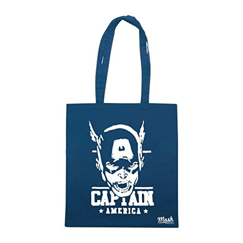 Borsa Captain America Vintage - Blu Navy - Cartoon by Mush Dress Your Style Precio Más Barato Para La Venta HE6VtwK6