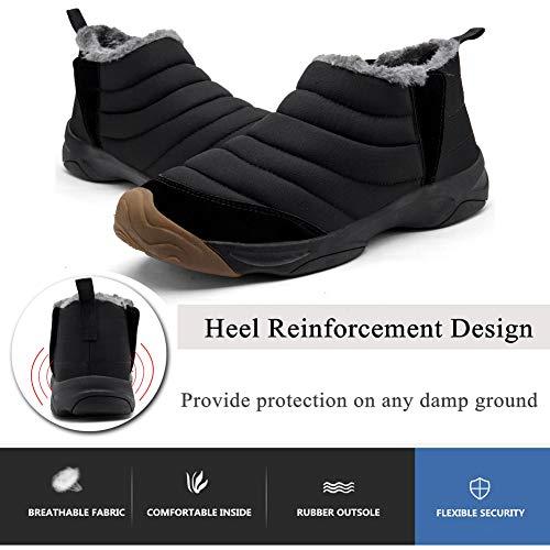 Air Yooeen Chaussures Chaud D'hiver Double Pour Dames Sur De Glissement Noir Neige Bottes En Femmes Marche Fourrure Plein tanche Hommes arSPxa
