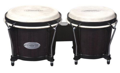 Toca 2100TB Synergy Wood Bongos - Transparent Black Toca Wood