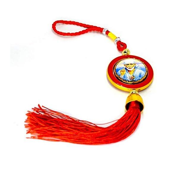 ME&YOU Shirdi Sai Baba Car Hanging Decorative Item, Car Decoration Rear View Mirror Hanging Accessories, Car Hanging Pendant, Car Decorative Ornaments