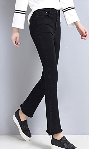 Jeans Vita Boot Denim Cut Pantaloni Flare Larghi Pantalone Autunno Ragazzi In Pants Stretti Donna Dabag Primavera Nero Alta xtwqZ7xFC
