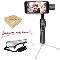Zhiyun Smooth-Q 3-Axis Handheld Gimbal Stabilizer for SmartPhone Like iPhone 8 7 Plus 6 Plus, Samsung Galaxy S7 S6 Wireless Control Vertical Shooting Panorama Mode (Featuring APP)
