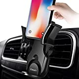 Car Phone Mount, Gimars No Shaking Secure Springback Lock One Hand Corporation Air Vent Car Phone Holder Compatible with Samsung Note iPhone X 8 7 6s Plus Huawei Google LG HTC GPS and More