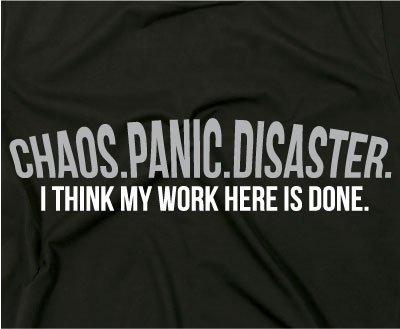 Chaos Panic Disaster Fun Nerd T-Shirt, spruch, XXL, Ladies schwarz