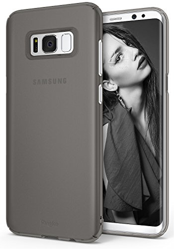 Ringke [Slim] Compatible with Galaxy S8 Plus Case Dazzling Slender Laser Precision Cutouts Fashionable Superior Steadfast Bolstered PC Hard Skin Cover for Samsung Galaxy S8 Plus - Frost Gray