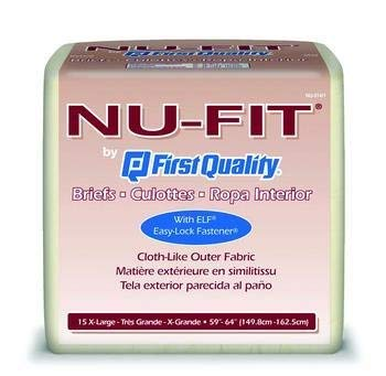 NU-Fit Adult Briefs XL - Case of 60