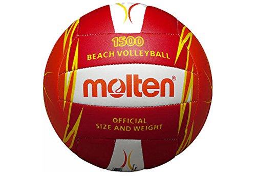 MOLTEN V5B1500-RO Ballon de beach-volley Multicolore Rot/Weiß/Orange 5 V5B-1500RO