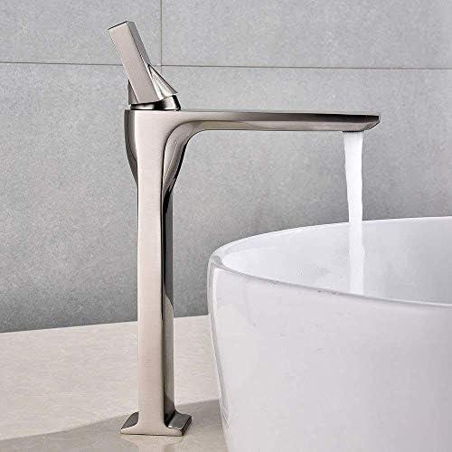 ZYL-YL タップ現代のミニマリストの浴室の洗面台のフル銅ブラシの蛇口温水と冷水空調ファッション高める単穴の蛇口の水