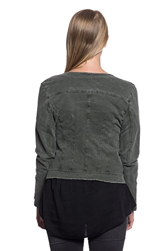 Olive Femme Vert Blouson Medium Abbino g1BaI
