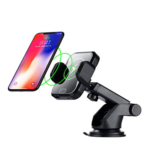 Wireless Car Charger Mount Automatic Clamping Air Vent Dashboard Support Qi Enabled Fast Charging Infrared Sensor Compatible with Qi Enabled Phone iPhone XS MAX/XR/XS/X/8/8 Plus Samsung Galaxy S9/8/7/