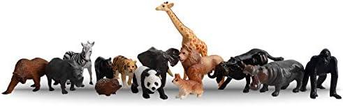 TOYMANY 野生動物フィギュアセット リアルな動物模型 動物園主題 14PCS入  ABSプラスチック製 子供おもちゃ 知育玩具 子供誕生日プレゼント 保育園教具 飾り物 コレクション