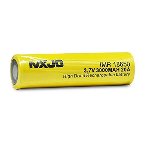 2 MXJO IMR 18650 3000mAh 35A 3.7v Rechargeable Flat Top High Drain Battery Batteries