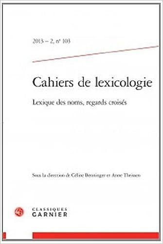 Livre gratuits Les Cahiers de lexicologie, N° 103 : pdf epub