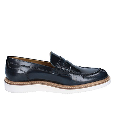 Hi Mocasin Base Cuero Sneaker 41 Hombre London Azul Shine RwqXBO