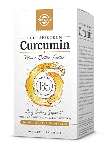 Solgar Full Spectrum Curcumin - 90 Liquid Extract Softgels - Brain, Joint, Immune Support Supplement, Anti inflammatory, Antioxidant - Non-GMO, Gluten Free - 90 Servings (Full Spectrum Black Cumin Seed)