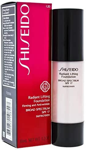 Shiseido Radiant Lifting Foundation Broad Spectrum SPF 15 for Women, No. I20 Natural Light Ivory, 1.2 oz