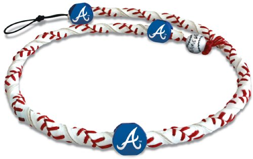 MLB Atlanta Braves Classic Frozen Rope Baseball - Rope Mlb Necklace Frozen
