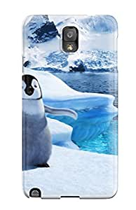 Cute Tpu CaseyKBrown Baby Mumble In Happy Feet 2 Case Cover For Galaxy Note 3
