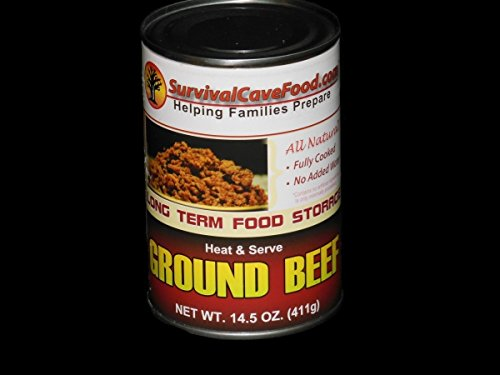 Survival Cave Food Canned Ground Beef, 12 Cans ()